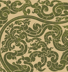 Green art pattern vector