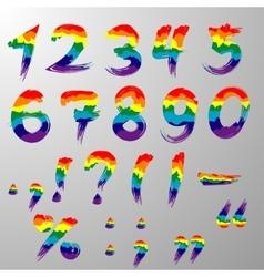 Hakuna Matata rainbow numbers vector image vector image
