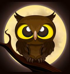 Halloween poster owl vector