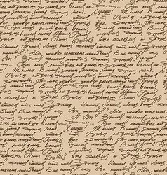 Handwritten text vintage style seamless pattern vector image