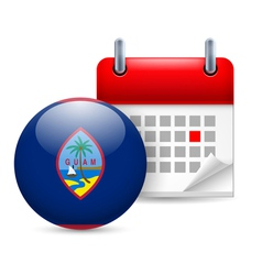 Icon of national day in guam vector