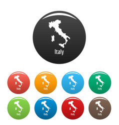 Italy map in black set simple vector