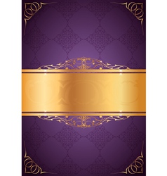 Little frames on purple background vector image