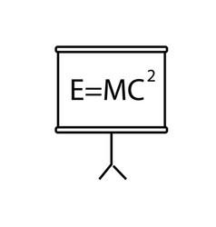 Mass energy equivalence icon vector