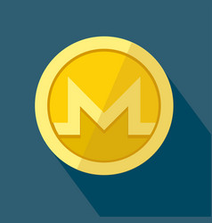 monero icon as golden coin vector image