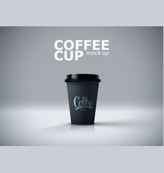 paper coffee cup mockup vector image vector image