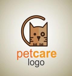 Pet care logo 10 vector