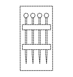 sewing pins set isolated icon vector image