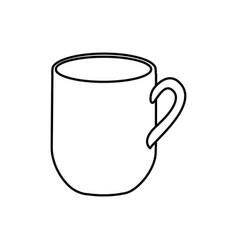 Silhouette big mug with handle vector