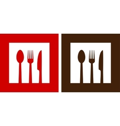 Two restaurant signs vector