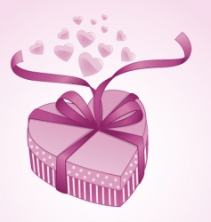 valentine gift box vector image vector image
