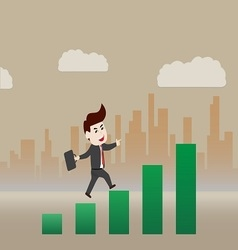 Walking on growth of progressive business vector image