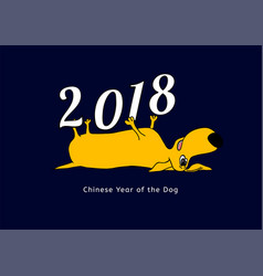 yellow dog postcard vector image