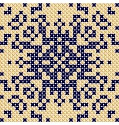 Cross stitch pattern antique scandinavian style vector
