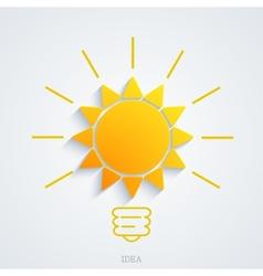 modern idea with sun background vector image