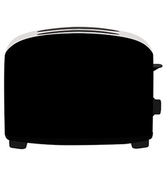 Black toaster vector