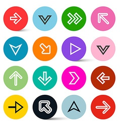 Application Icons - Arrows in Colorful Circles Set vector image