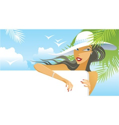 Summer girl vector