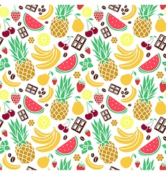 Seamless pattern of tastes vector