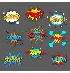 Comic sound effect set vector