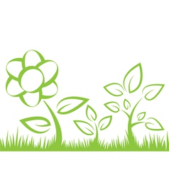 Flower grass vector