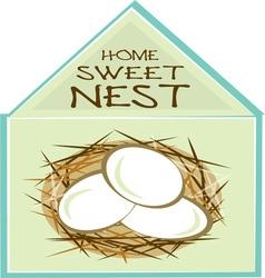 Home Sweet Nest vector image