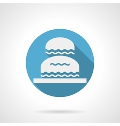Decorative water flowing blue round icon vector