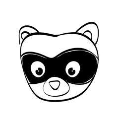 Raccoon cartoon icon cute animal design vector