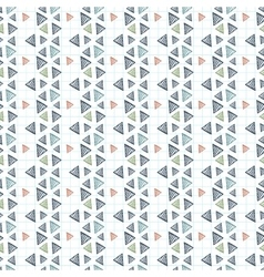 Seamless pattern of triangles primed on vector