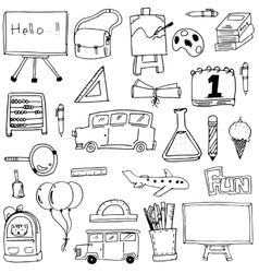 Hand draw doodle school element vector