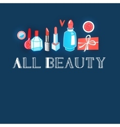 Advertising different makeup vector