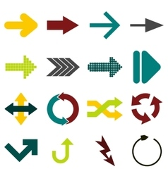 Arrow sign flat icons vector image
