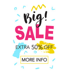 Big sale mobile banner template vector