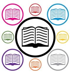 book symbols vector image vector image