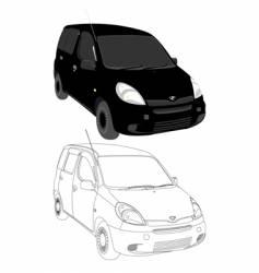 cargo silhouette vector image vector image