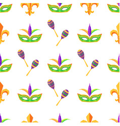 carnival attributes seamless pattern vector image vector image