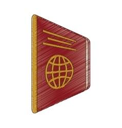Drawing passport identification tourist vector