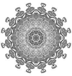 Ethnic decorative element for design Monochrome vector image vector image
