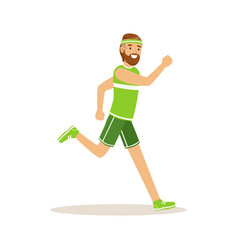 male athlete character running active sport vector image vector image