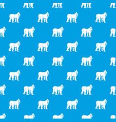 Mandrill monkey pattern seamless blue vector