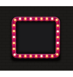 modern retro billboard background vector image vector image