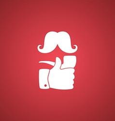 pipe smoker like thumb up vector image