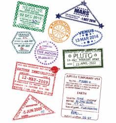 Planet visas vector