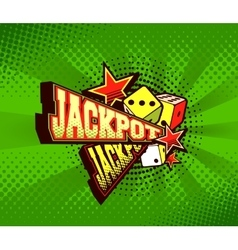 Poster jackpot vector