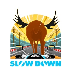 SlowDown vector image
