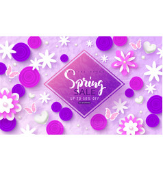 Spring sale banner beautiful background with vector