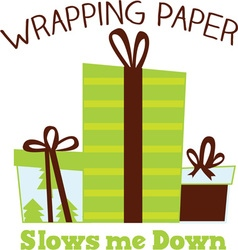 Wrapping gifts vector