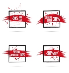 Banner and smear paint vector