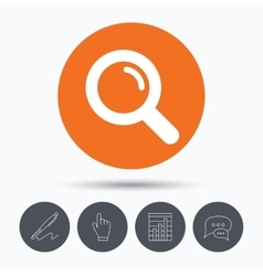 Magnifier icon search magnifying glass sign vector