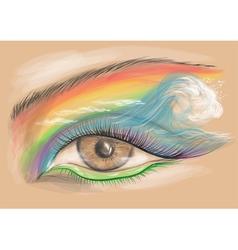 eyeshadow vector image